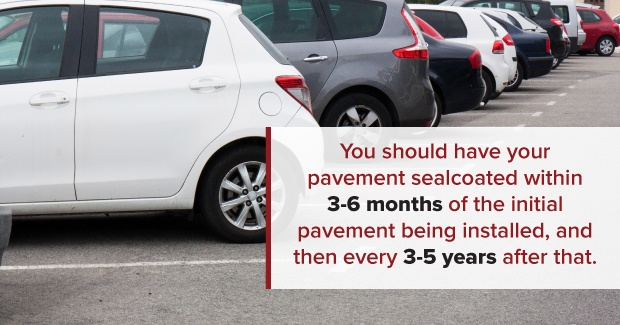 when to sealcoat pavement after pavement installation