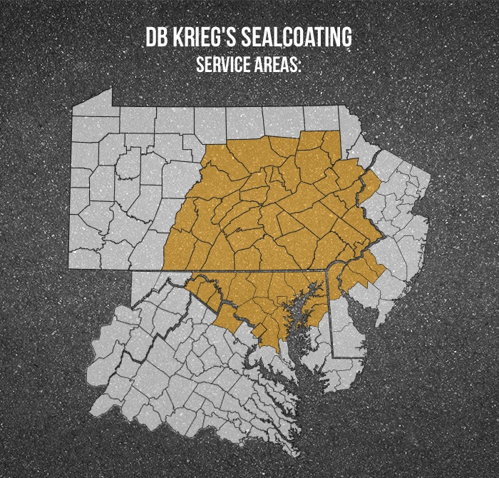 daniel b. krieg sealcoating service areas