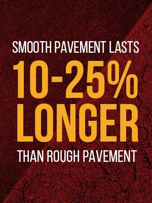 smooth pavement versus rough pavement